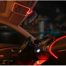 3Meters AUTO interior refit light clamping-edge EL Wire Flexible Neon Car Decorate With 12V Cigarette Drive Free shipping