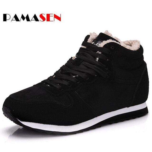 PAMASEN Casual Unisex Cheap Winter Shoes Keep Warm Men Plush Couple Snow Shoes Fashion Men's Female Casual Shoes 36-48