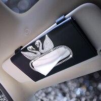 Vehicle Tissue Box Sunshade Plate Swan Originality Automobile Hanging Tissue Box Fashion High Grade Tissue Case Noble Creative