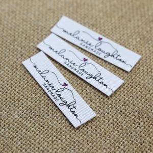 Image 3 - 96 adet Özel logo etiketleri, Adı demir on etiket, Özel Giyim etiketleri, Organik Pamuk Etiketleri