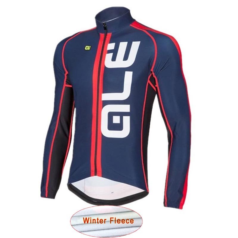 ALE Pro 2018 Cycling Jersey Long Sleeve Winter Thermal Fleece Bicycle Warm Moutain Bib Pants Set Bike Clothing ropa ciclismo L5