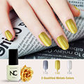 1pcs The Metal Soak Off UV Gel Nail Polish Metallic Color Nail Art Manicure Salon DIY 5ml