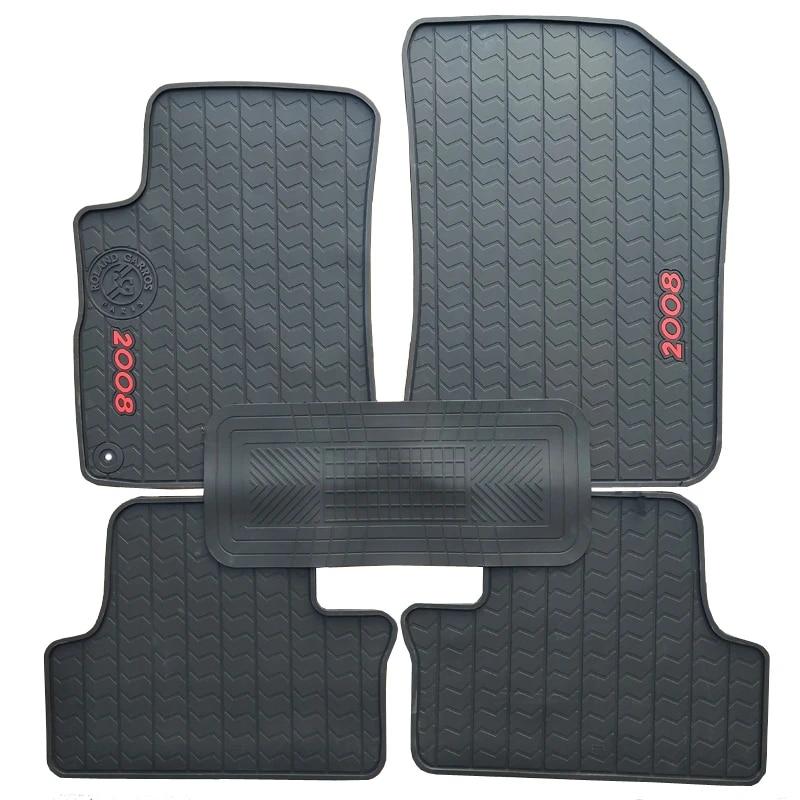 en caoutchouc special de voiture tapis de sol pour peugeot 206 207 308 508 2008 3008 durable en latex impermeable tapis pour 206 207 308 508 2008