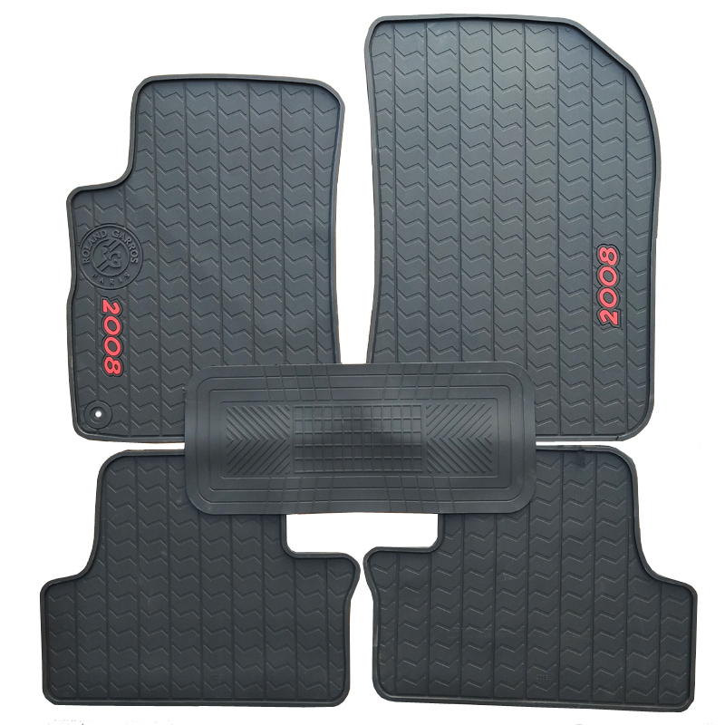 Special rubber car floor mats for Peugeot 206 207 308 508 2008 3008 durable waterproof latex carpets for 206 207 308 508 2008 special rubber latex green car trunk mats case for benz smart desinged for original car model