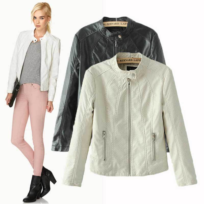 Popular Womens White Leather Jackets-Buy Cheap Womens White