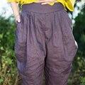 2016 Summer Cotton Linen Ankle-Length Pants Women Casual  Pants Trousers