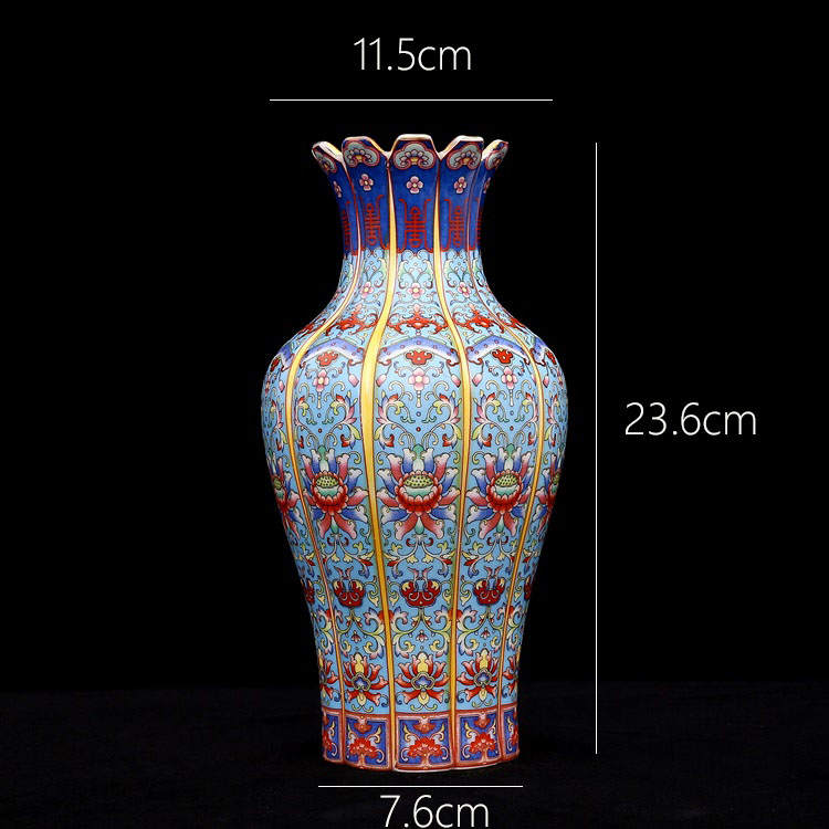 Antique Creative Porcelain Flower Vase - Home & Garden