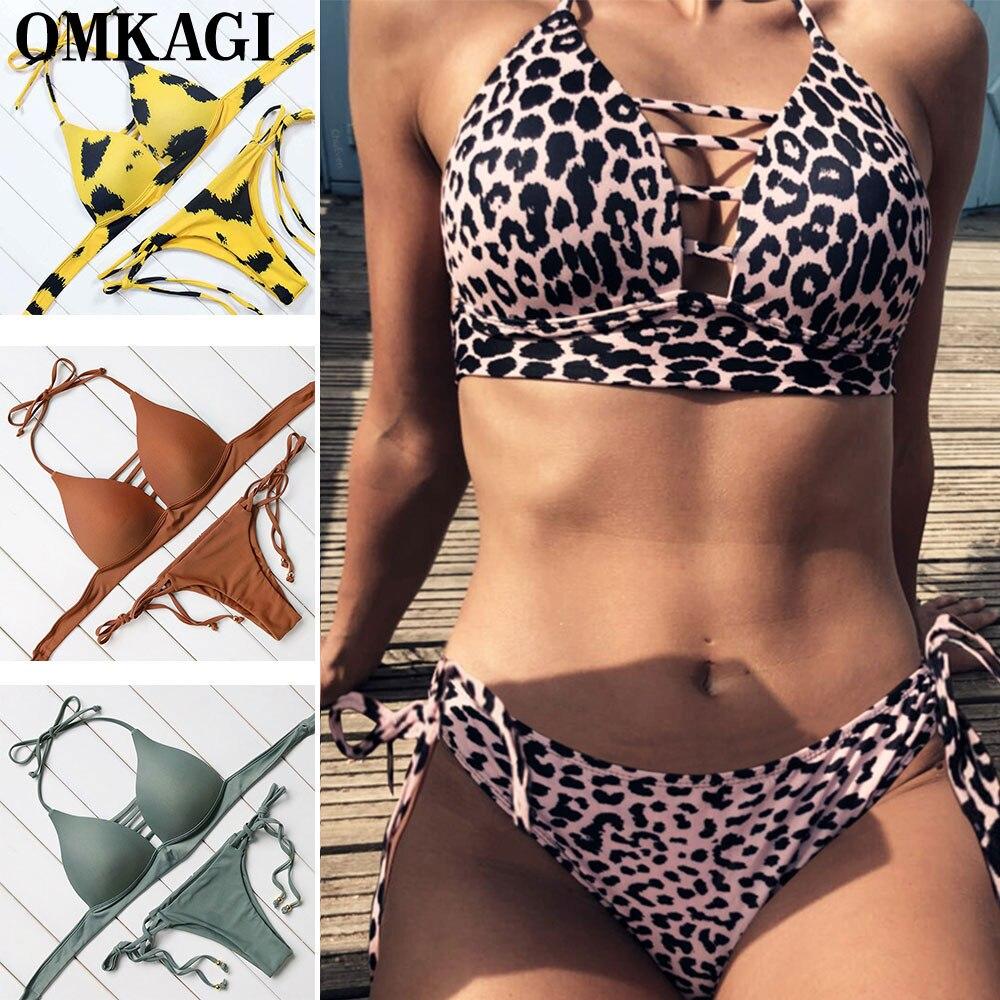 OMKAGI traje De baño mujeres Biquini Sexy Bikini natación traje De baño traje Maillot De Bain mujer Bikini