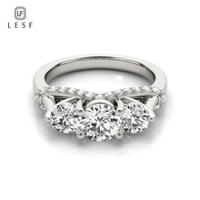 LESF Fashion Jewelry Engagement Vintage Jewellery 5A Zircon stone 925 Sterling s