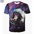 Mr.1991 Super poderes gato 3D t-shirt para meninos das meninas da forma t camisa Gorila fumar impresso crianças grandes 11-20 anos camiseta A5