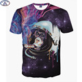 Mr.1991 Super powers cat 3D t-shirt for boys fashion girls t shirt smoking Gorilla printed big kids 11-20 years t shirt  A5