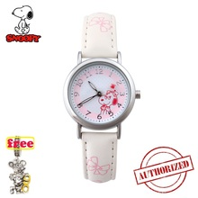 SNOOPY  BELLE KIDS genuine girls New relojes Cartoon Children Watches Fashion Kids Cute japan quartz Watch relogio feminino 004