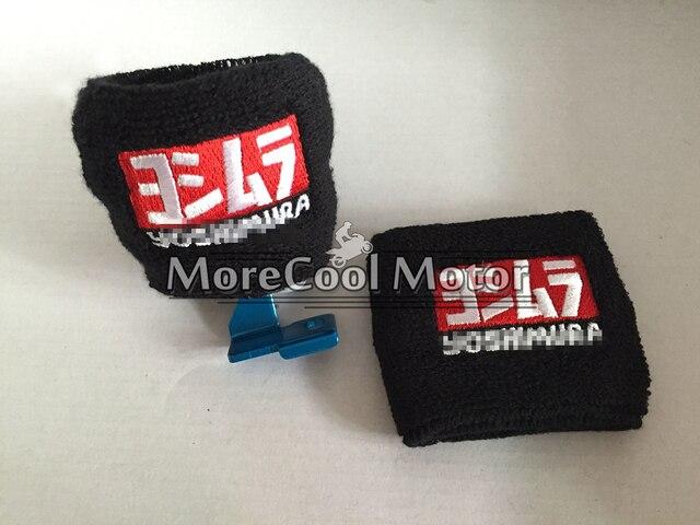 1 Pair YOSHIMURA Logo Motorcycle Brake Fluid Reservoir Sock For Honda Kawasaki Suzuki Yamaha Aprilia