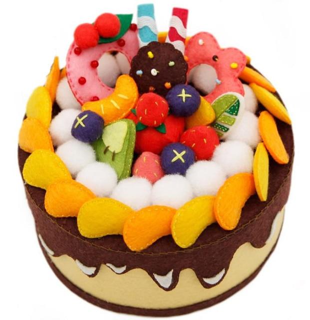 Zestaw filcowania filc diy craft Handmade kolorowe ciasto futerał do przechowywania na urodziny dzieci specjalny prezent filc zestaw do DIY