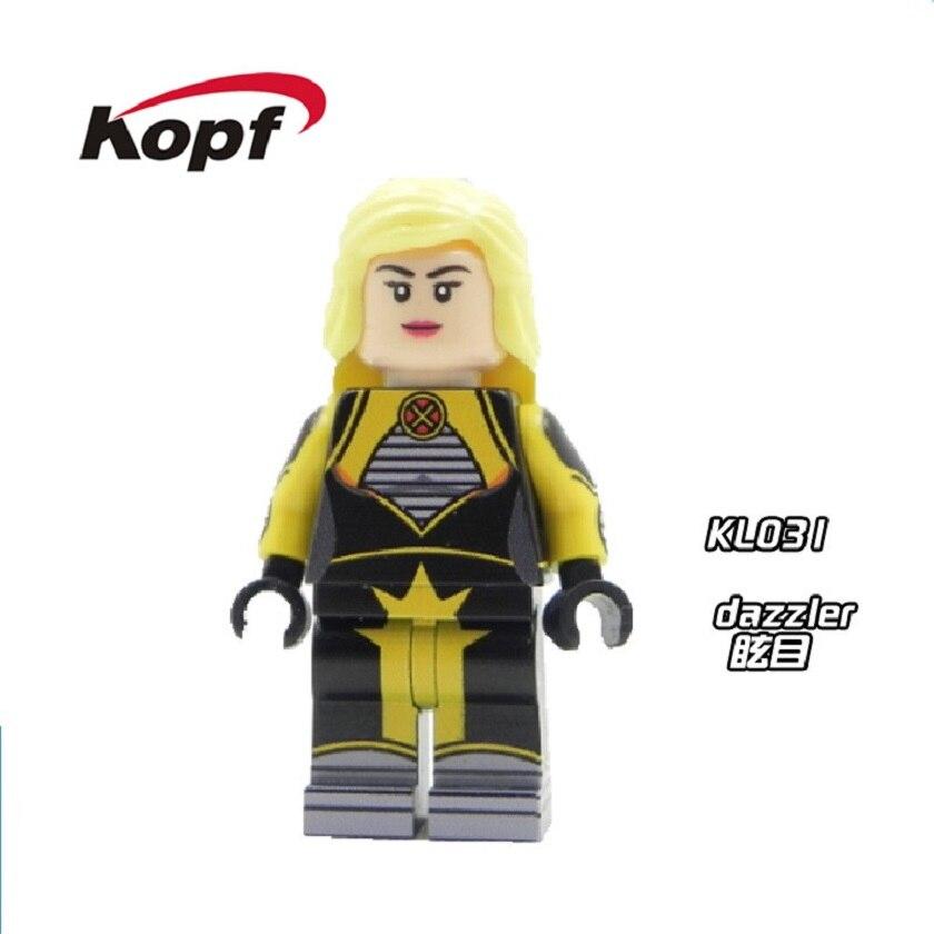 20Pcs Super Heroes Cute Figures Inhumans Royal Family Building Blocks Dazzler Colossus Custom X-Men Toys for children Gift KL031