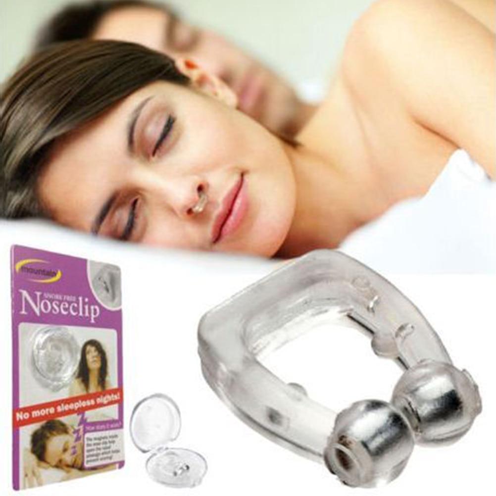 Силиконовый Магнитный чехол против храпа, зажим для носа, футляр для сна, защита от апноэ, ночное устройство с чехлом