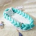 Deportes y ocio cuna CAMA | cama bebé nido cama Protector de parachoques recién nacido Bionic ropa de cama durmiendo artefacto cama de viaje con parachoques bebé dormir