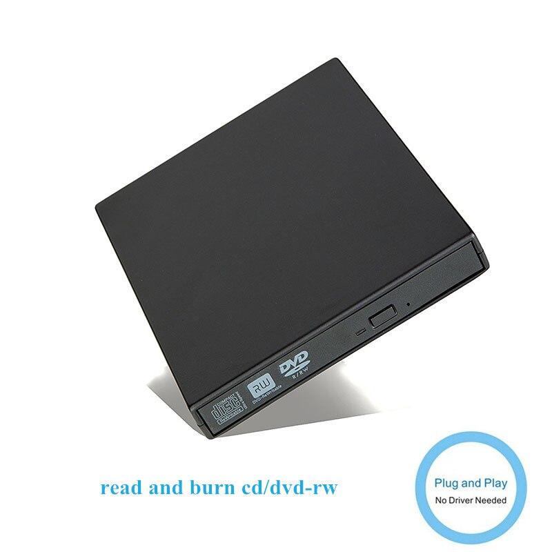 DVD Drive Óptico externo USB 2.0 DVD-ROM Jogador CD/DVD-RW Queimador Escritor Leitor Gravador Portatil para Windows PC/ GANHAR 10/8/7/XP
