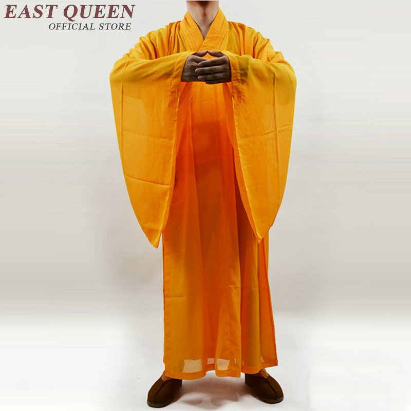 僧侶のローブガウン伝統的な僧侶服制服少林寺衣装 NN0411 イェ