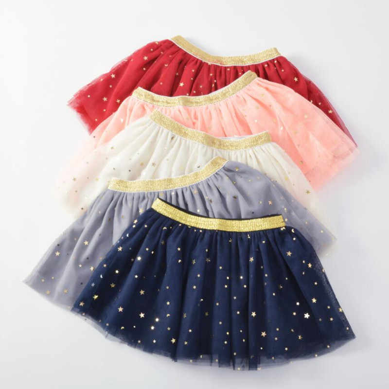 New Kids Baby Girls Skirts Stars Glitter Ball Gown Princess Dance Ballet Sequin Girls tutu Skirt Toddler Pettiskirt Clothes A318