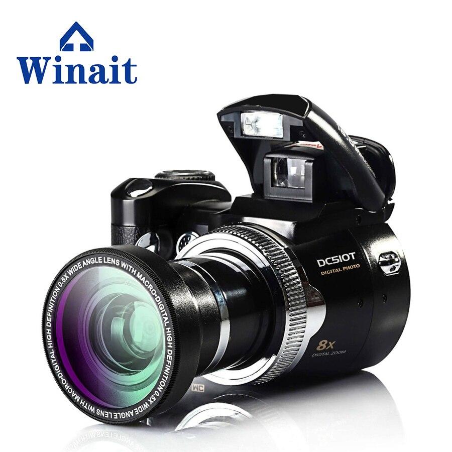 Pas cher nouveau appareil photo numérique carte SD 8x zoom numérique 16MP appareil photo reflex numérique avec 2.4 pouce TFT LCD Affichage DC-510T Auto -minuterie caméra vidéo