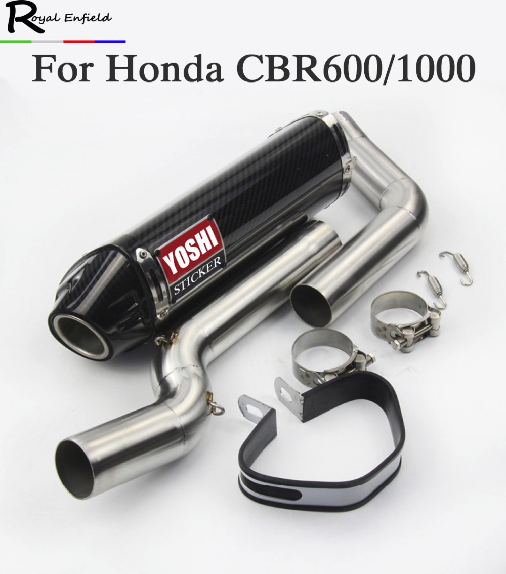 Motorcycle exhaust muffler link pipe for Honda CBR600rr f5 03-04 05-15 cbr1000 04-07 wit ...