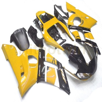 Custom motorcycle article for YZF R6 1998 1999 2000 2001 2002 YZF-R6+Screws+yellow ABS fairing body kit