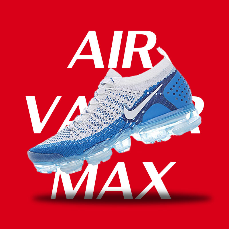 Original NIKE AIR VAPORMAX FLYKNIT 2 Running Shoes for Men 9 Sizes Authentic Sport Outdoor NIKE Air Max Sneakers Good Quality