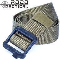 ROCOTACTICAL Mens Low Profile 1.5 pollici Migliorato TDU Tactical Belt Army Military Nylon Web Cinture Rumore Silenzioso Fibbia In Plastica