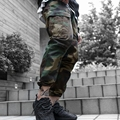 Hot Sale Men's Camouflage Overalls Multi-Pocket Casual Jogger Pants Male Water Wash Skinny Trousers