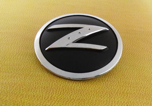 2 Pcs Auto Car Chrome Z Logo For 2003 2009 350z Fender Emblem