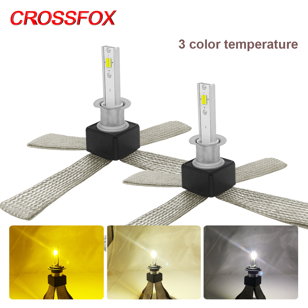 CROSSFOX 自動車 Led 電球 LED H4 H1 H3 H8 H11 9005 9006 hb4 H7 LED HB2 HB3 HB4 ヘッドライトライトランプ 6000 18k ホワイト 12 V 12000LM  グループ上の 自動車 &バイク からの 車のヘッドライトの球 (LED) の中 1