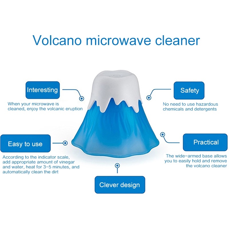 Volcano Erupting Microwave Cleaner Made with Food Grade PP Material for Cleaning Dirt and Stains 7