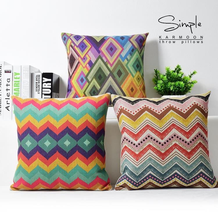abstract ideas bohemia pillow color stripe geometric pillow cushion
