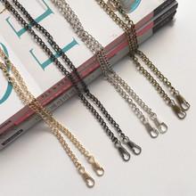 O kształt styl torebka metalowa łańcuchy DIY torba łańcuchy liny pasek dostaw torba na akcesoria części portmonetka szafka wzór metalowy łańcuch pasek tanie tanio Metal Chain Wieszak Rafarad