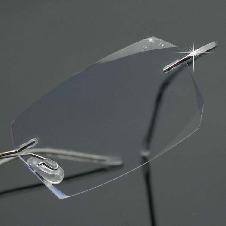 Chashma Brand Titanium Fashion Lady Eye Glasses Diamonds Rimless ...