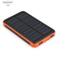 Wopow Power Bank 20000mah Universal Dual USB Ports Outdoor Portable Solar Powerbank Large Capacity Poverbank Charger