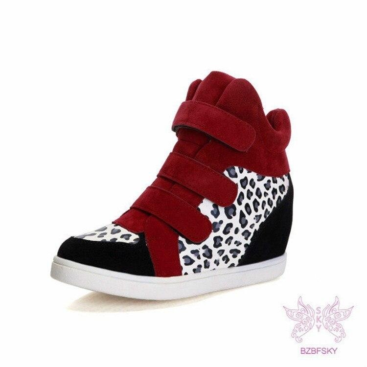 black Donna Nero rosso Pattini White Il Comodi Punta Casual Piattaforma  amp  red Rotonda Di Canapa Ydp White Leopardo Autunno Tela Della Loop Scarpe  ... 86897ae5eec