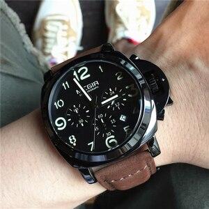 Image 3 - MEGIR New Watch Men Top Famous Brand Luxury Quartz Watches Male Clock Genuine Leather Men Water Proof Wrist Watches