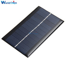Mini 6V 1W Solar Panel Bank Solar Power Panel Modul DIY Power Für Licht Batterie Handy Spielzeug ladegeräte Tragbare(China)