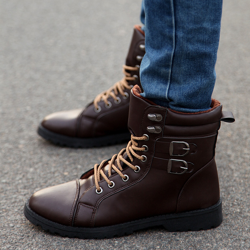 2015 Winter Shoes Men Plush Warm Boots Men Sneakers Fur ...