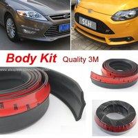 For Ford Flex Fiesta Focus Escort MONDEO Taurus EcoSport Kuga Edge S MAX Car Bumper Lips Spoiler Body Kit Strip Front Tapes