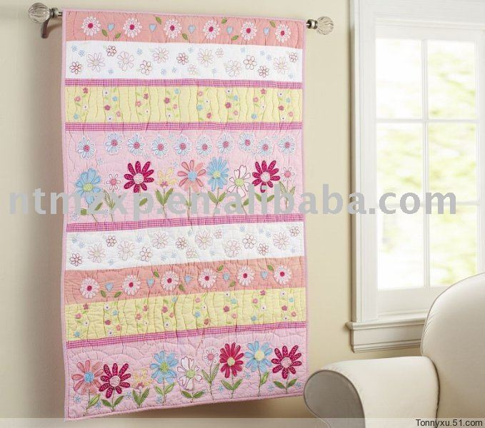 Baby Quilt 100 Cotton Handmade Embroidery Applique Patchwork Quilt