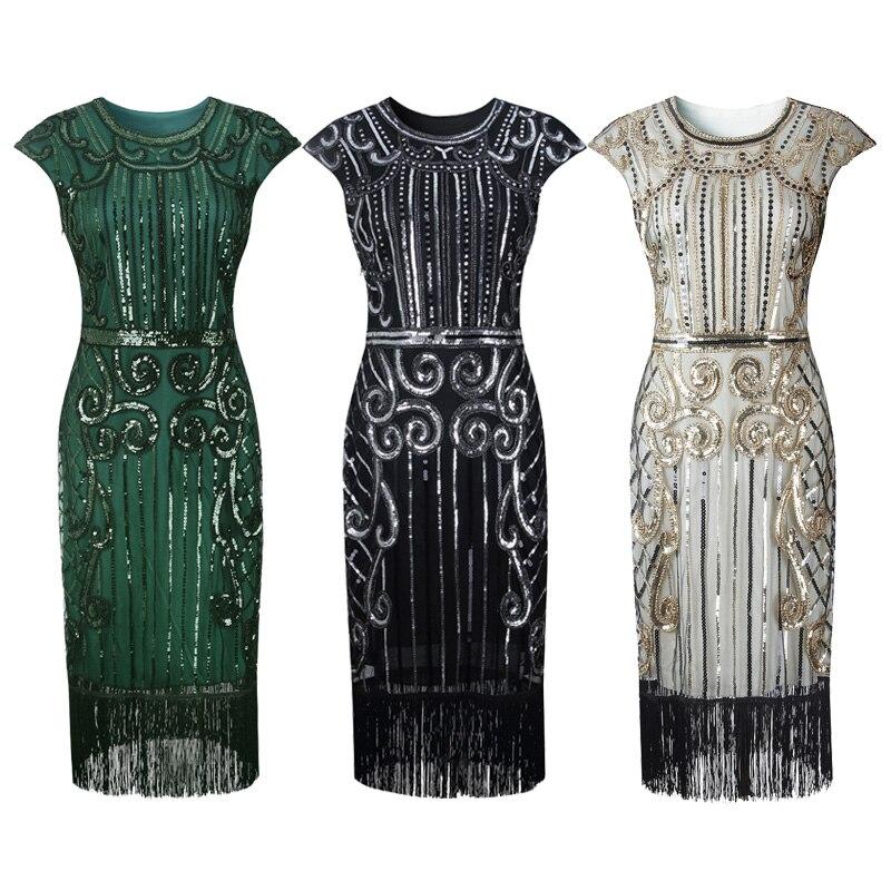 Hot Sale 1920s Women Flapper Dress Sequin Beaded Art Deco Gatsby