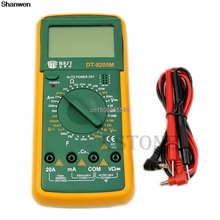 Newest DT9205M Digital Multimeter Voltmeter Ohmmeter Ammeter Capacitance Tester mini multifunctional portable digital multimeter oscilloscope voltmeter ohmmeter capacitance tester handheld scopemeter