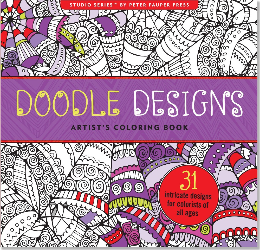 Doodle Designs Artist\'s Coloring Book (English), Antistress Coloring ...