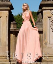 dress free shipping 2013 New Bead Pink Chiffon Jewel Celebrity Evening Prom Designer Dress Size