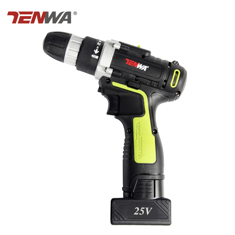Tenwa 25V Rechargeable Lithium Battery charging Cordless drill hand Torque Electric Drill Electric Screwdriver power tools