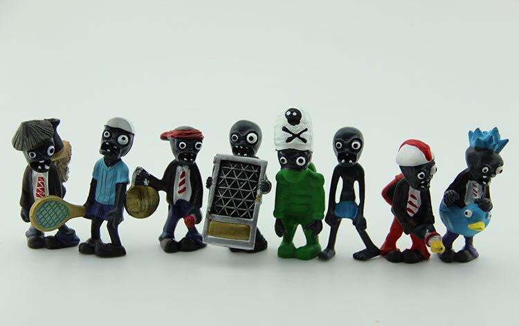 8pcs/set PVZ Plants vs. Zombies Toys Ducky Tube Zombie PVC Action Figures Dolls PZ007
