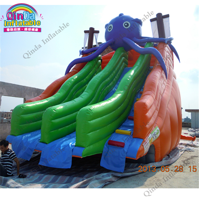 Bouncy slide PVC inflatable water slide clearance/giant inflatable water slide for adult and children,puzzle toy sport giant pvc commercial inflatable water slide with pool for sale